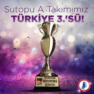 Sutopu A Takımımız Türkiye Üçüncüsü!