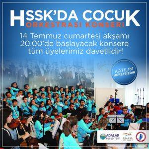 HSSK'da Çocuk Orkestrası konseri!