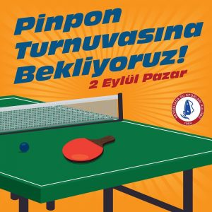 Pinpon turnuvasi için kayıtlarımız başlamıştır.