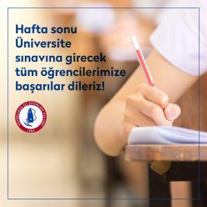 Üniversite sınavına girecek tüm öğrencilere başarılar!
