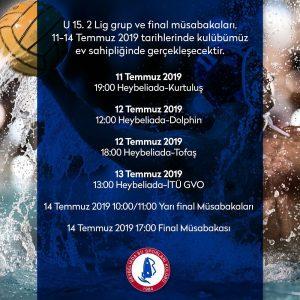 U15.2 Lig Grup ve Final Müsabakaları Kulübümüzde