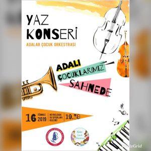 Adalar Çocuk Orkestrası Yaz Konseri 16 Temmuz Salı akşamı HSSK'da gerçekleşecek!