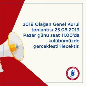 2019 Olağan Genel Kurul Toplantısı Duyurusu