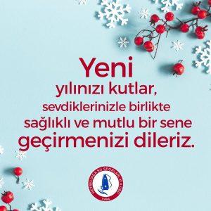 Yeni yılınızı kutlarız!