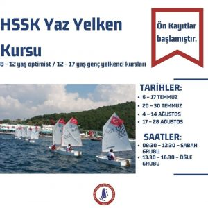 HSSK Yaz Yelken Kursu Ön Kayıtları Başladı