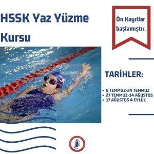 HSSK Yaz Yüzme Kursu Ön Kayıtları Başladı