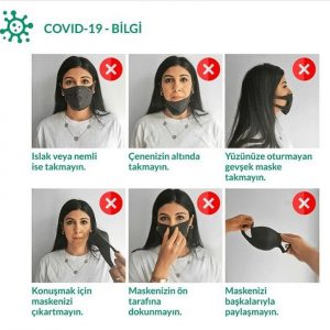 Koruyucu maske ile ne yapmamalıyız?