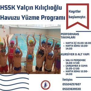 HSSK Yüzme için kayıtlar başlamıştır!
