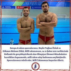 Neşfet Toğkan Özbek ve Gökmen Mehmet Dilek Milli Takım Aday Kadrosuna Seçildi