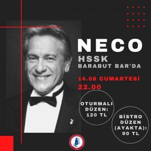 NECO, Bu Cumartesi Akşamı HSSK Barabut Bar'da!